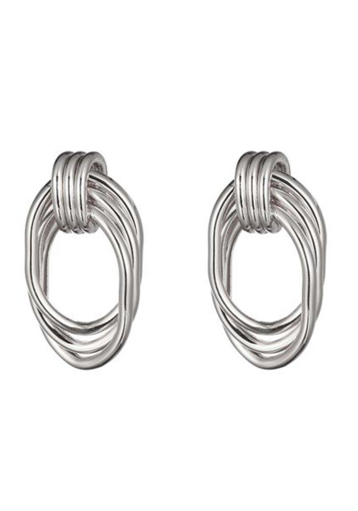 Wire Hoops Silver - Earrings