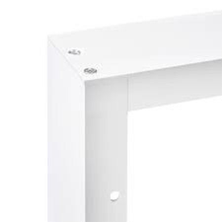 LED paneel  opbouw frame 30x30 - Wit aluminium incl. schroeven - 5cm hoog