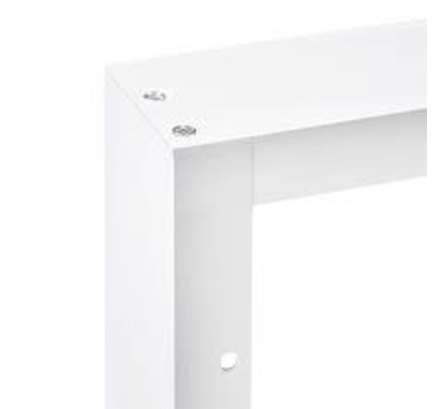 LED paneel opbouw aluminium - wit - 30x30 frame systeem - 5cm hoog incl. schroeven