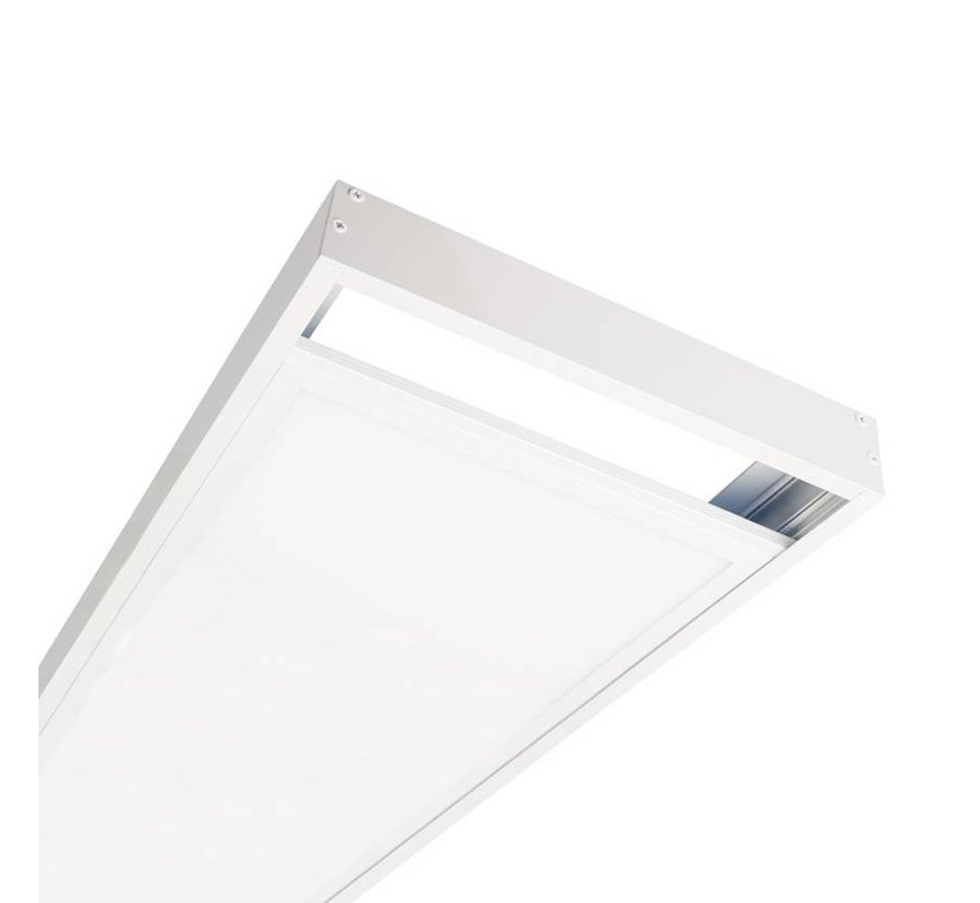 LED paneel opbouw - Wit aluminium - 120x30 frame systeem - 5cm hoog