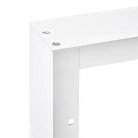 LED paneel 60x30 opbouw frame - Wit aluminium incl. schroeven - 5cm hoog