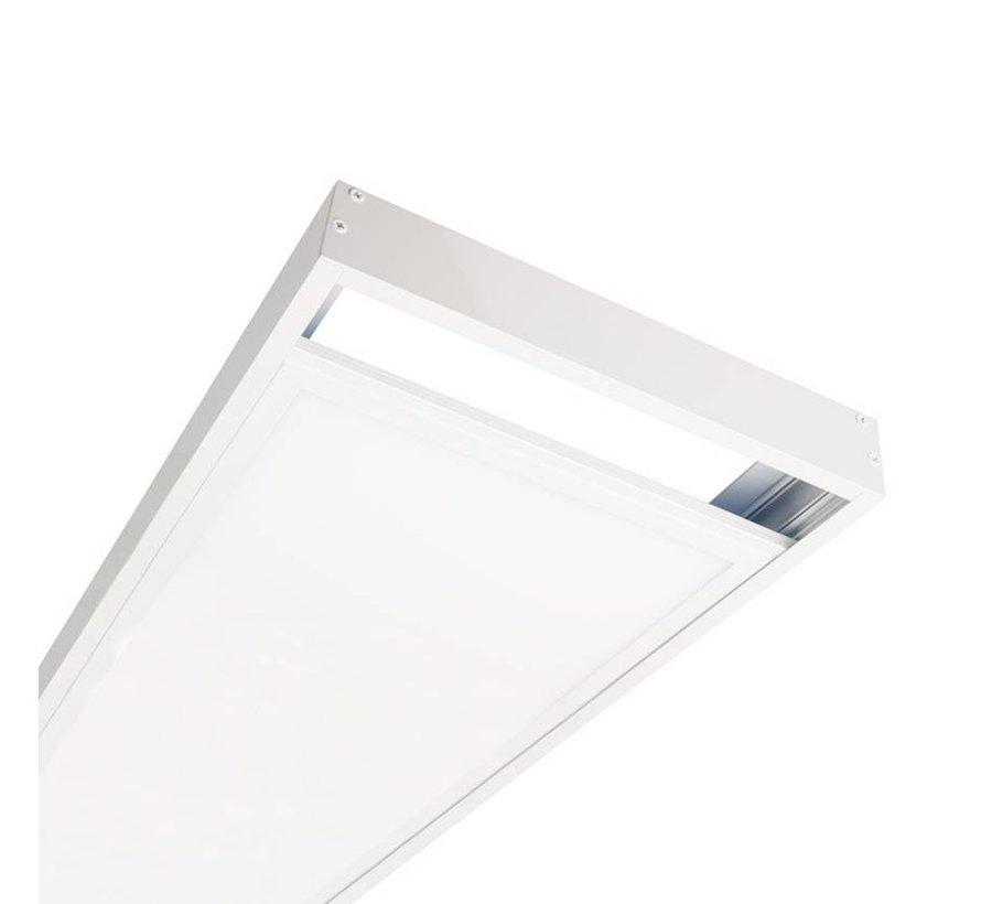 LED paneel opbouw aluminium -  wit - 120x60 frame systeem - 5cm hoog incl. schroeven
