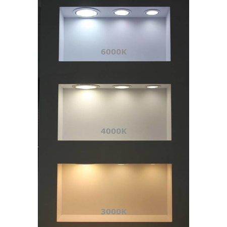 LED paneel rond 20W inbouwmaat 220-230mm 3000K, 4000K of 6000K - 230V aansluiting