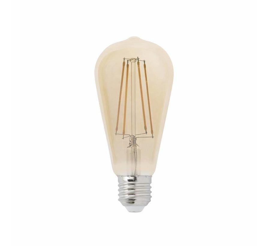 Dimbare LED Lamp Langwerpig - 6W - met Filament - 2200K