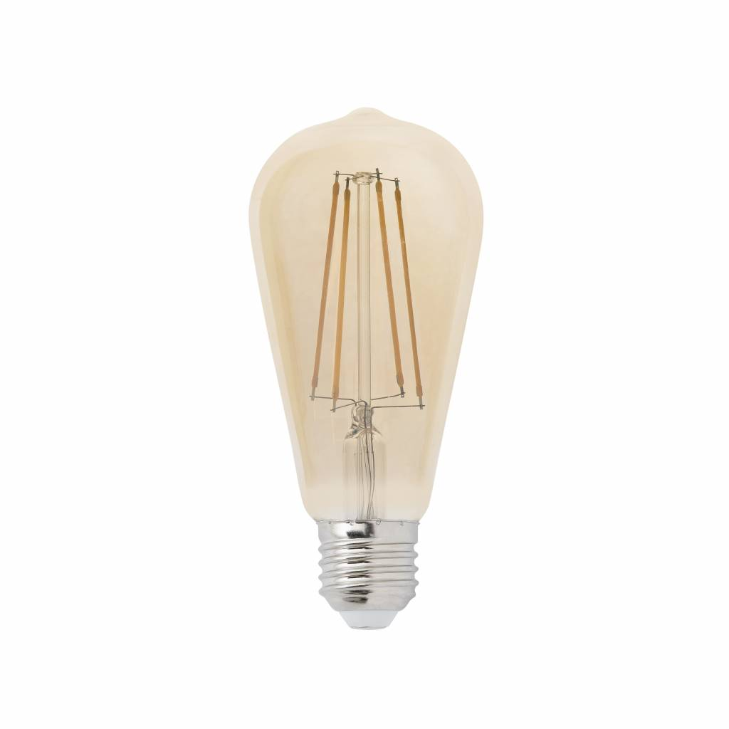 dimbare led lamp 6w met filament 2200k langwerpig