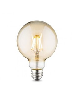 Dimbare LED Lamp XL Globe - 6W - Met Filament - 2200K