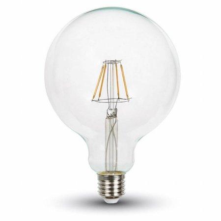 Dimbare LED Lamp 6W met Filament 2700K XL Globe helder glas