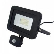 100W LED schijnwerper met bewegingsmelder 6000K IP65 vervangt 100W
