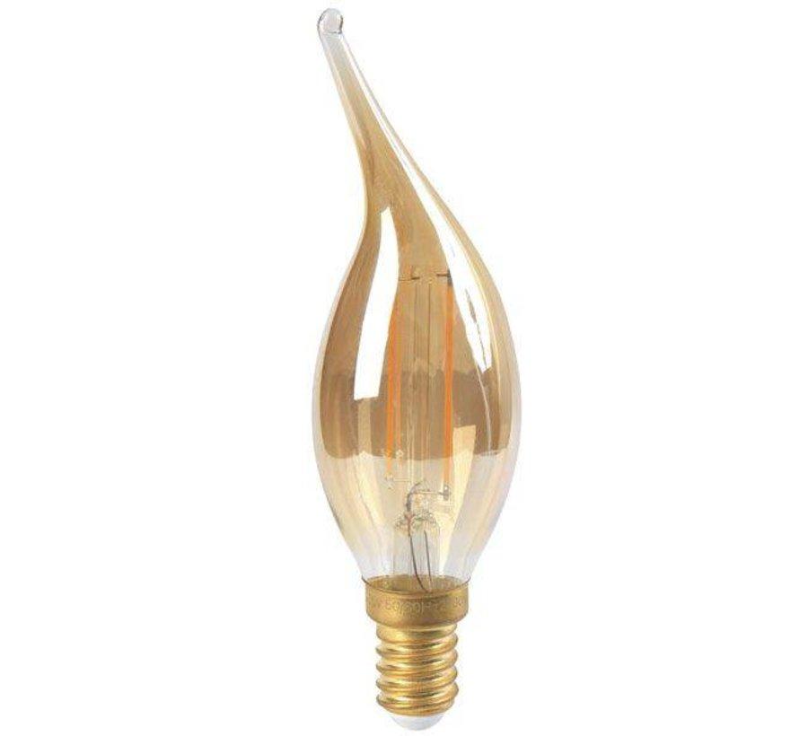 Dimbare LED lamp kaars - E14 - 5W - Met Filament - 2200K