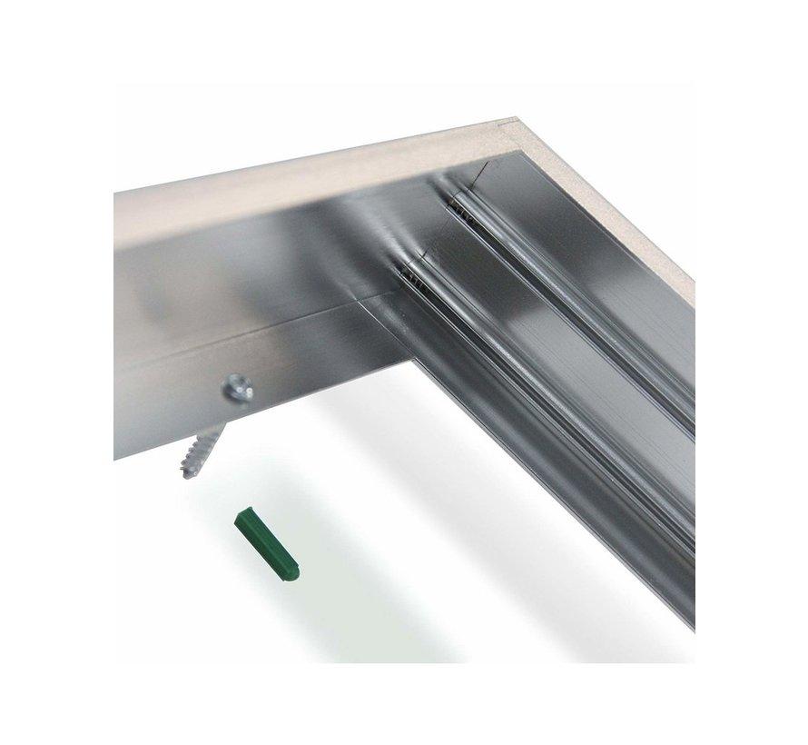LED paneel opbouw frame - 60x30cm - Zilver Aluminium - 5cm hoog