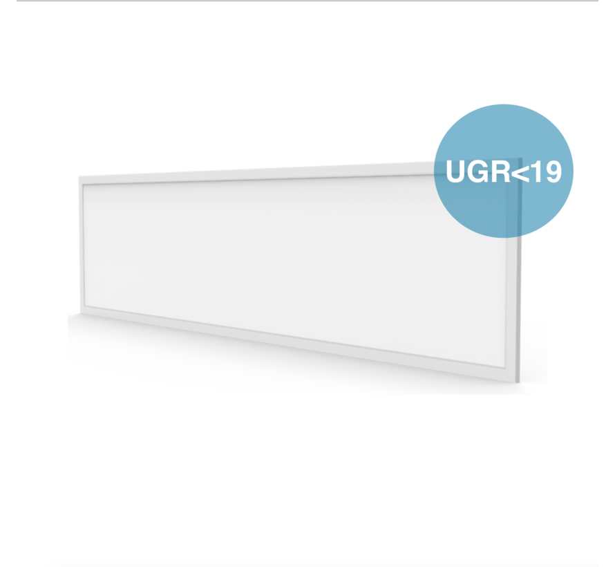 LED Paneel 120x30 UGR<19 - 40W 4000lm - 6000K 865 - Flikkervrij - 5 jaar garantie