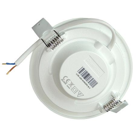 LED paneel rond 6W inbouwmaat 100-110mm 3000K, 4000K of 6000K - 230V aansluiting
