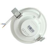 LED paneel rond 16W inbouwmaat 150-160mm 3000K, 4000K of 6000K - 230V aansluiting
