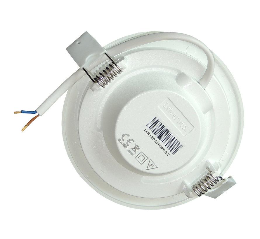 LED inbouwspot rond - 16W vervangt 110W - inbouwmaat 150x32mm - 6000K daglicht wit