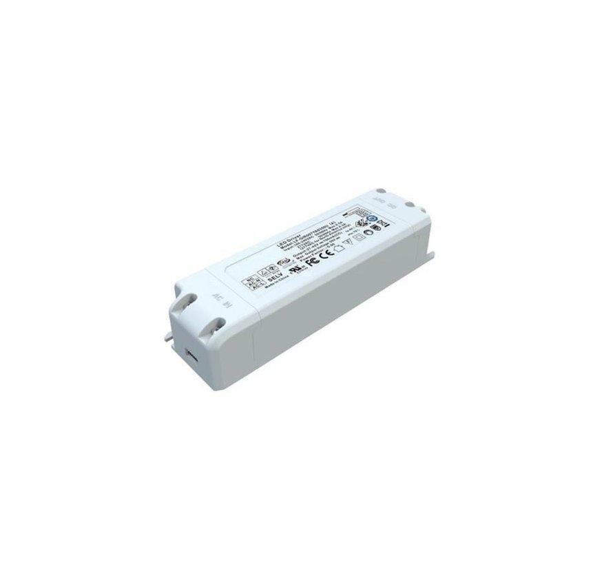 LED Driver flikkervrij - DC27-40V 600mA - voor 25W LED panelen
