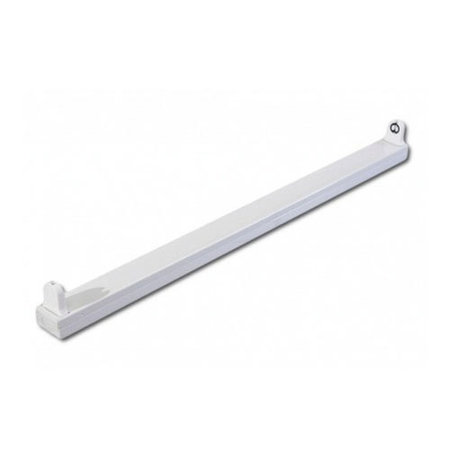 LED TL Buis armatuur - 1.2M - Voor 1 LED TL buis - Eenzijdig stroom aansluiting