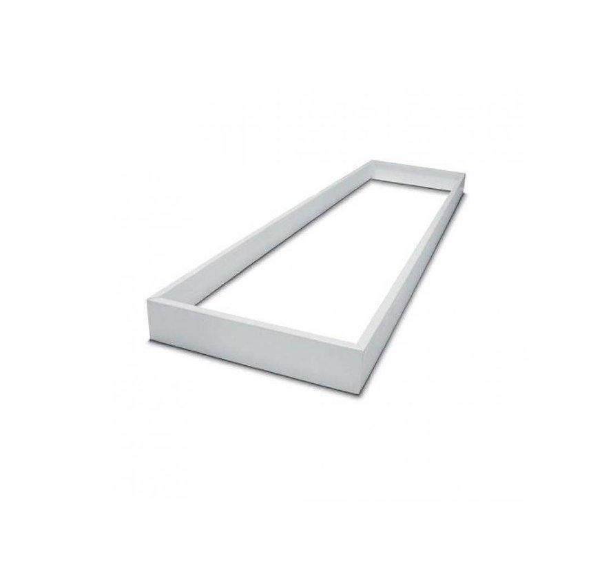 120x30cm LED PANEEL - zilver omranding - 4000K 40W 3600lm - Dimbaar optioneel - Flikkervrij licht - 5 jaar garantie