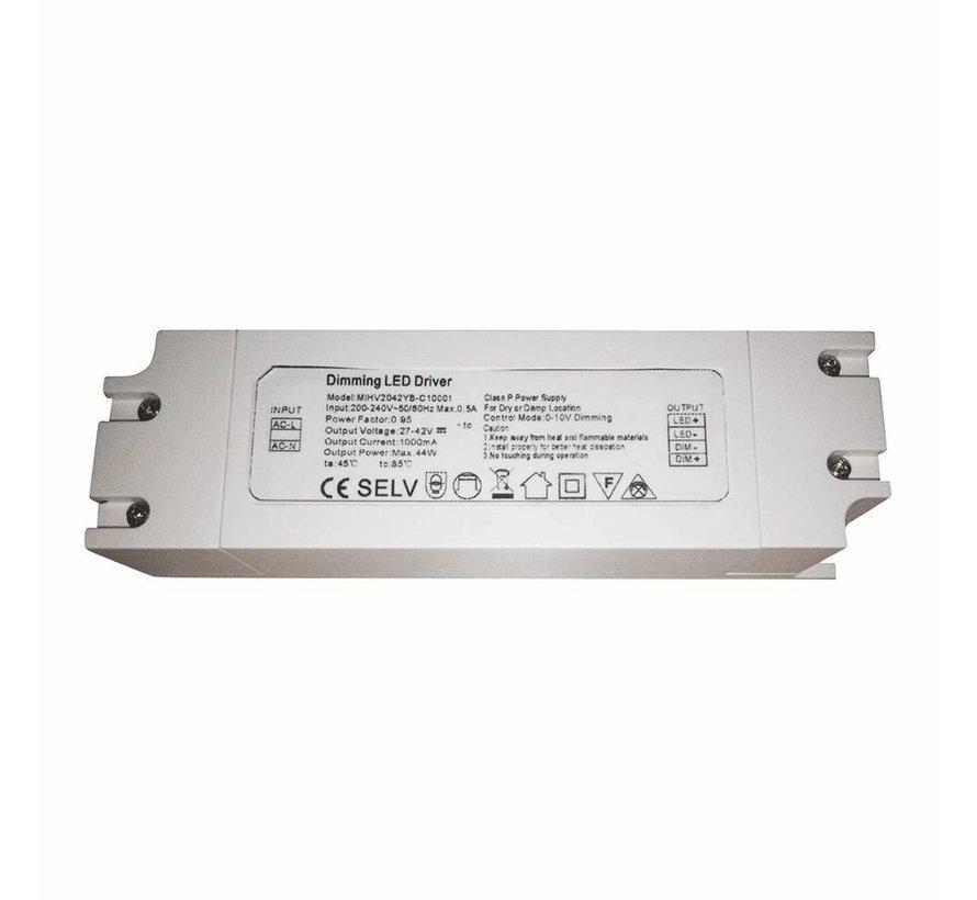 Dimbare LED driver - 1-10V - 60W 30-42V 1500mAh
