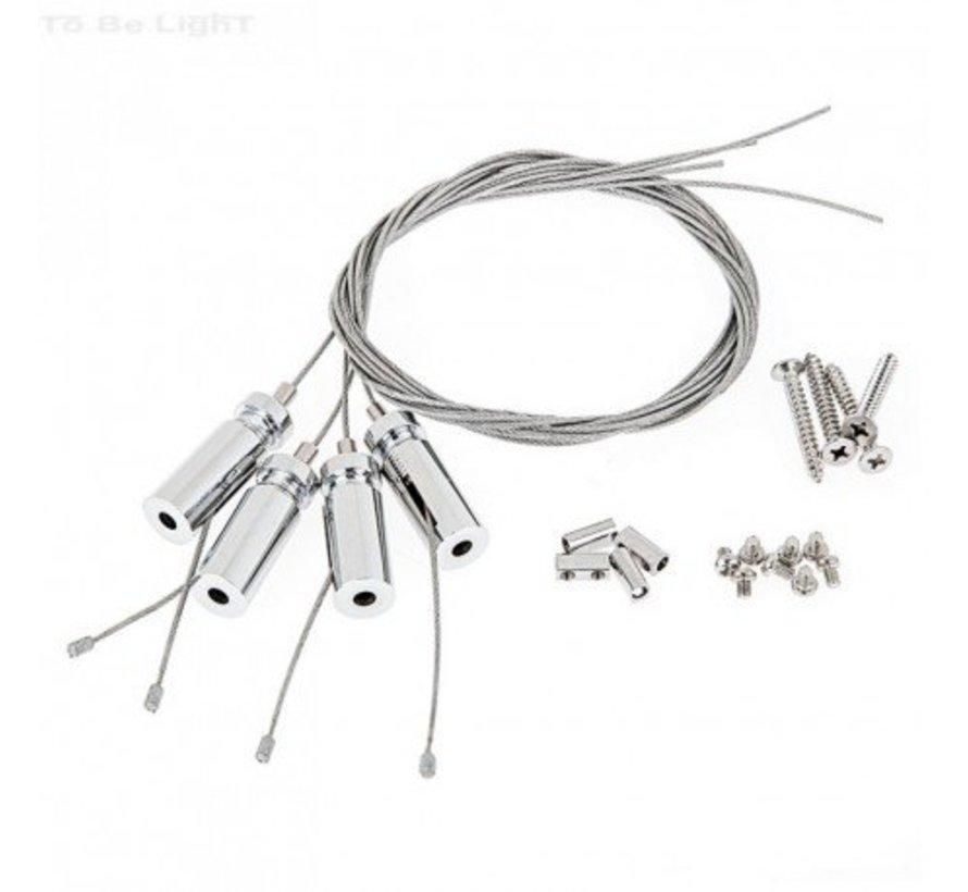 LED paneel - 60x60 - Zilveren rand - 40W 3600lm - 4000K - Incl. flikkervrije driver - 5 jaar garantie