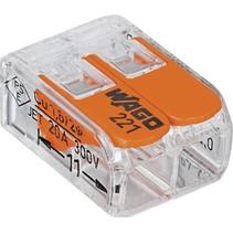 Lasklem kabelverbinders 2 polig - WAGO