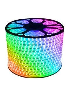 LED Lichtslang plat - RGB - 10 meter - Bediening optioneel - werkt direct op 230V