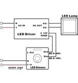 1-10V Inbouw LED dimmer max. 1200W