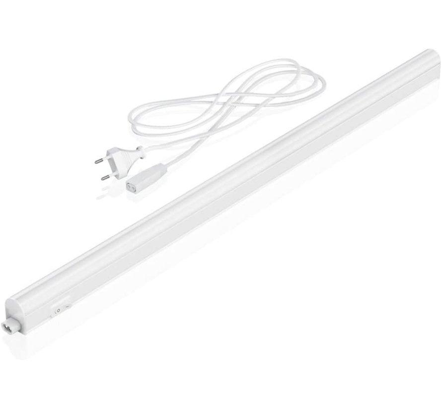 T5 LED armatuur 90cm - 10W vervangt 100W - Lichtkleur optioneel - compleet met 1.5m aansluitsnoer en aan- uitknop