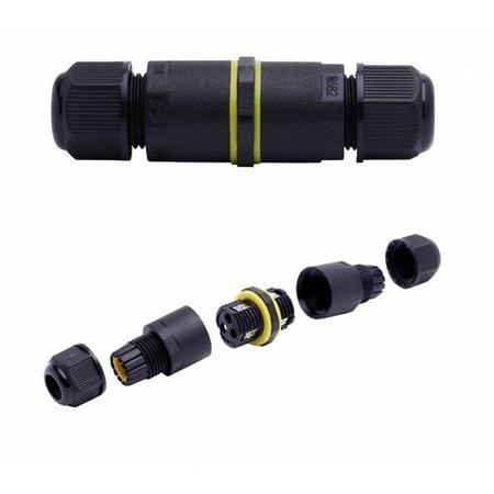 Kabelverbinder waterdicht IP68 - 2- en 3-polig - voor 0.5 - 1mm² - IP68 - geschikt voor 2- en 3-aderige kabel