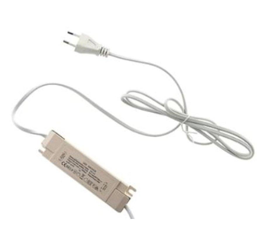 LED 32W Paneel driver met 1.5m plug - Output: 30-40V 800mAh - Geschikt voor 32W LED panelen