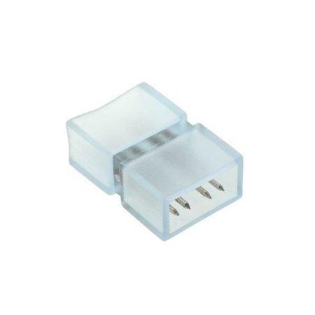 RGB LED lichtslang vier pins connector  -  aansluiting met plastic omhulsel recht