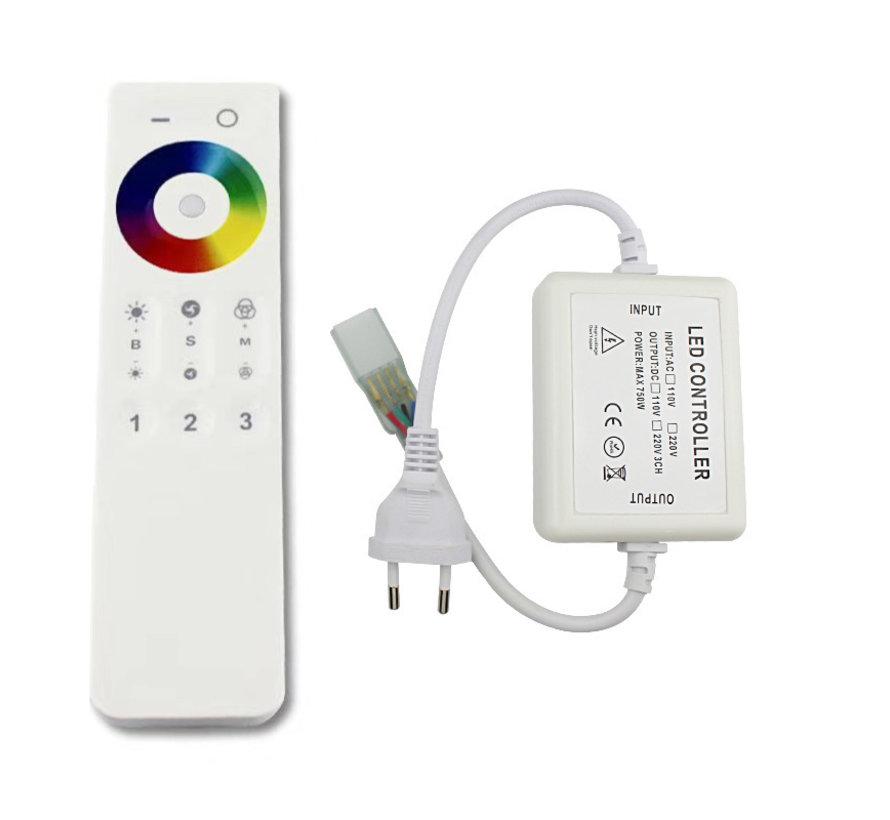 LED RGB lichtslang bediening - Radiografisch met afstandsbediening - Geschikt voor het dimmen van RGB LED lichtslang