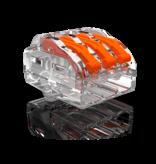 40 stuks Conex Lasklem kabelverbinders - 3 polig 0,5 tot 4mm²
