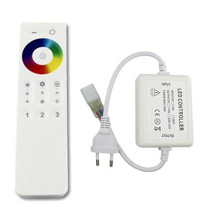 LED strip RGB verschillende kleuren - Lengte optioneel - IP65 direct 230V - 60 LED's p/m