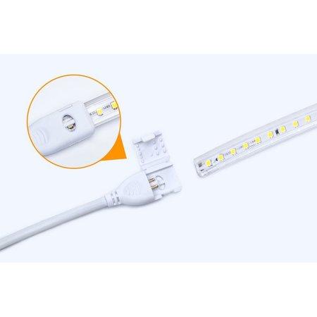 LED lichtslang aansluitsnoer IP65 - met click sluiting - EU stekker incl. aansluitmateriaal 230V