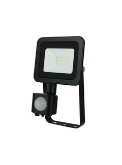 LED Floodlight met sensor - 10W IP44 - Lichtkleur optioneel - 3 jaar garantie