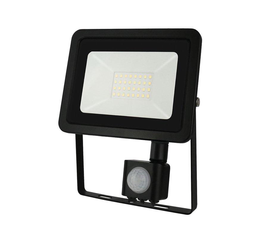 LED Floodlight met sensor - 20W - IP44 - Lichtkleur optioneel - 3 jaar garantie