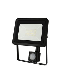LED Floodlight met sensor - 30W IP44 - Lichtkleur optioneel - 3 jaar garantie