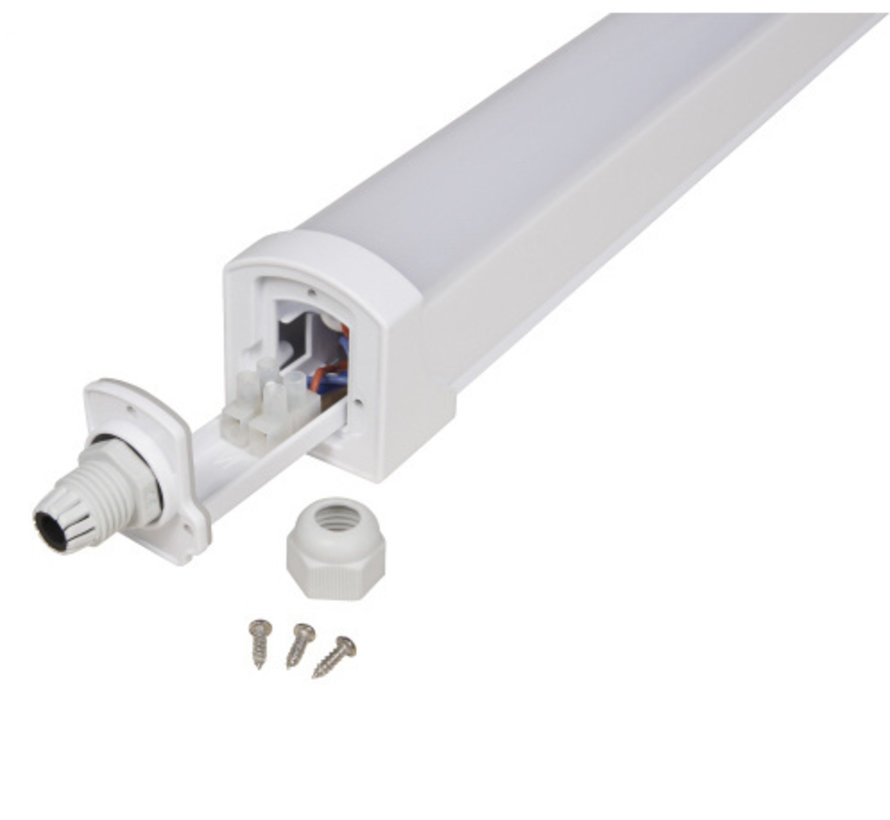 LED ECO Armatuur 120cm - 36W 97Lm p/w - 4000K 840 Lichtkleur - IP65 Spatwaterdicht
