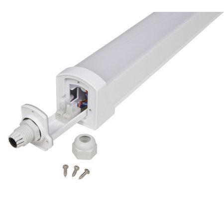 LED ECO Armatuur 120cm - 36W 95lm p/w - 3000K 830 warm wit licht - IP65