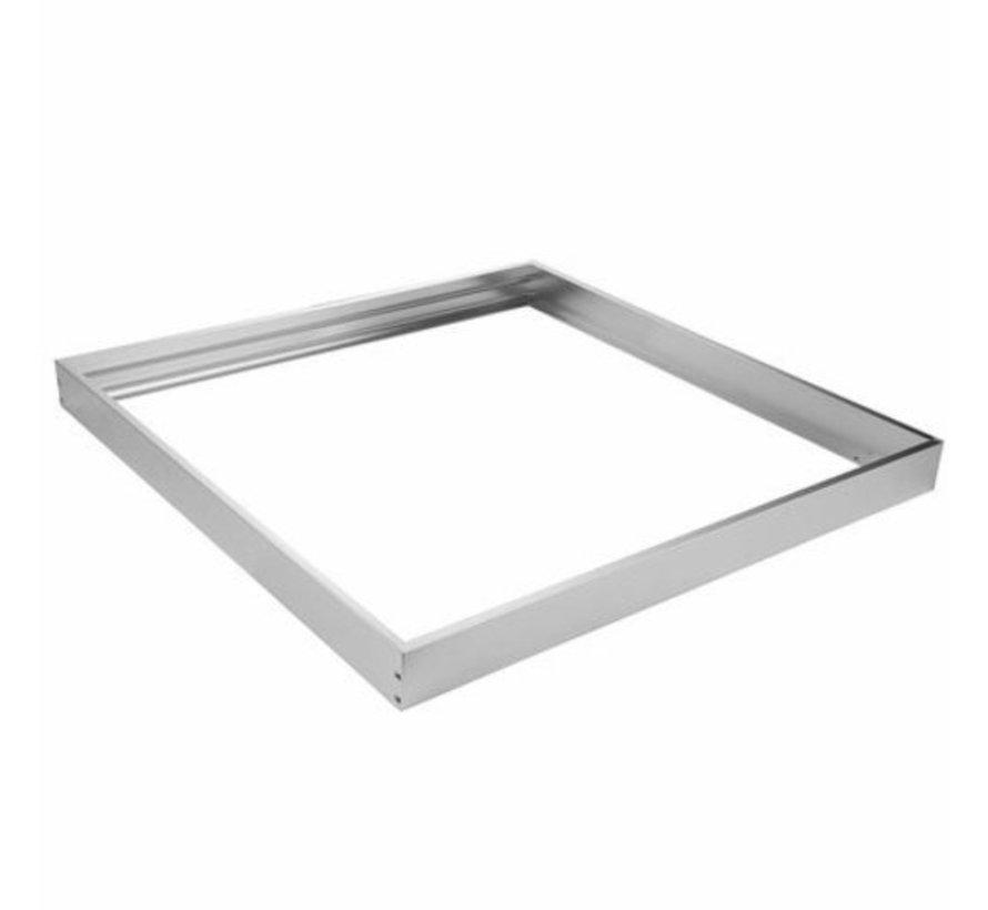 LED paneel opbouw aluminium - Zilver - 30x30 frame systeem - 5cm hoog incl. schroeven