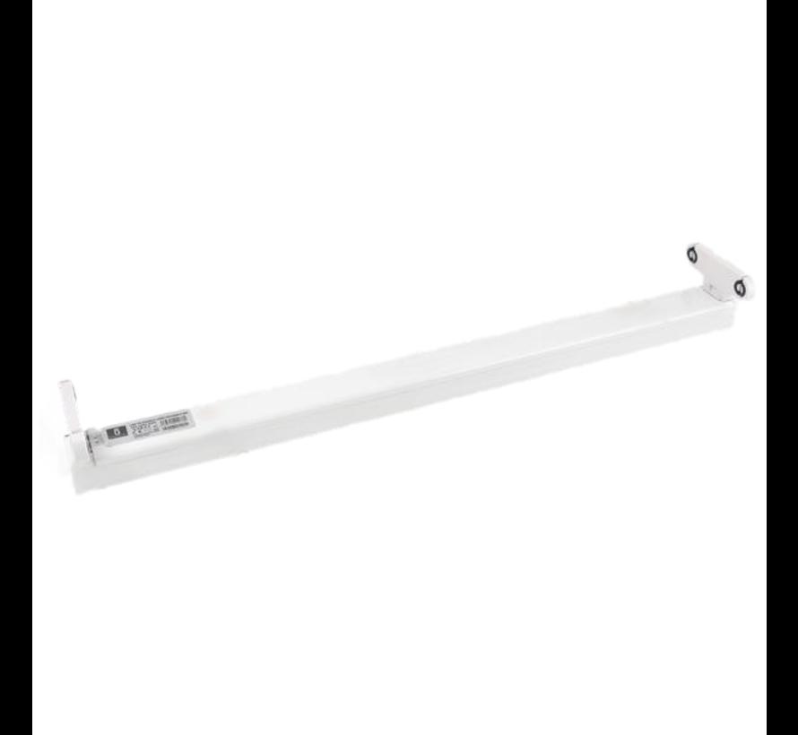 LED TL Buizen armatuur - 1.5M - Voor 2 LED TL buizen - Eenzijdig stroom aansluiting
