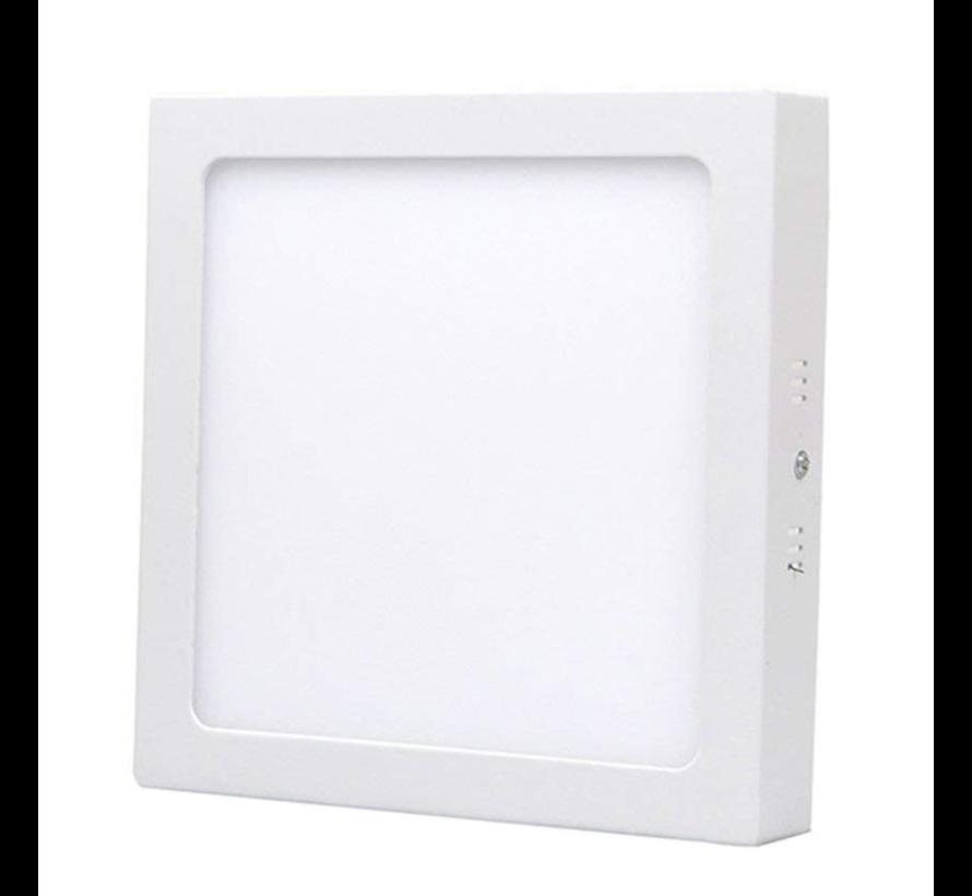 LED paneel opbouw vierkant - 6W vervangt 40W - Lichtkleur optioneel  - 122x122x34mm