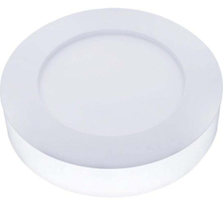 LED paneel opbouw rond - 6W vervangt 50W - Lichtkleur optioneel - 122x34mm