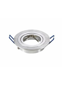 Inbouwspot geborsteld aluminium rond - kantelbaar - zaagmaat 75mm - buitenmaat 91mm