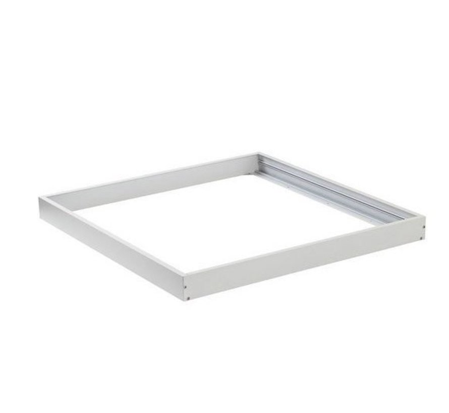 LED paneel opbouw Wit Aluminium - 60x60cm frame systeem - 5cm hoog incl. schroeven