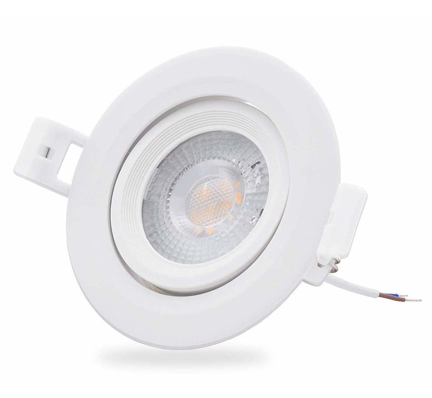 LED inbouwspot - 5W vervangt 35W - 3000K warm wit licht - Kantelbaar