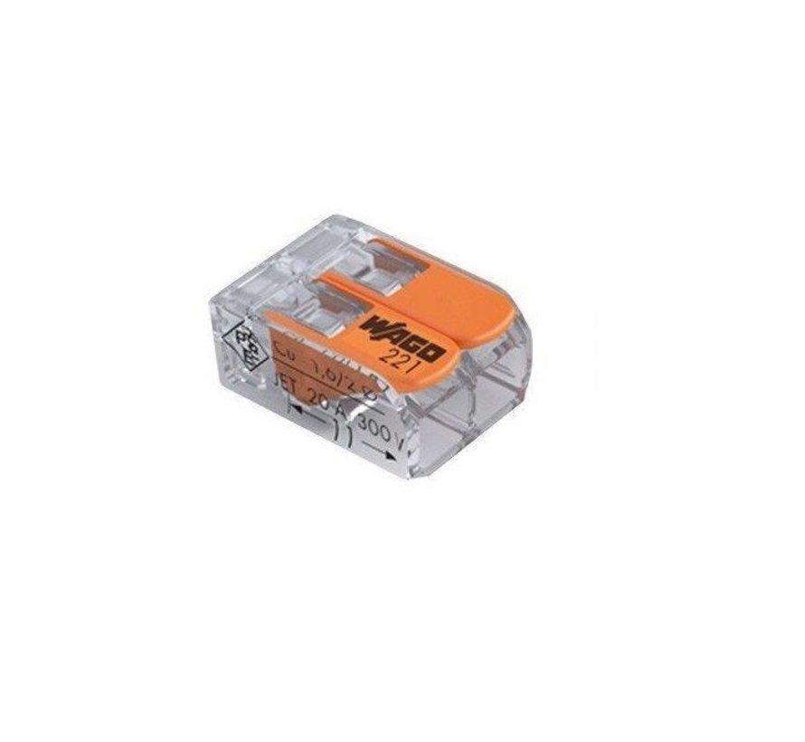 WAGO verbindingsklem  0.14-4 mm 2 polig