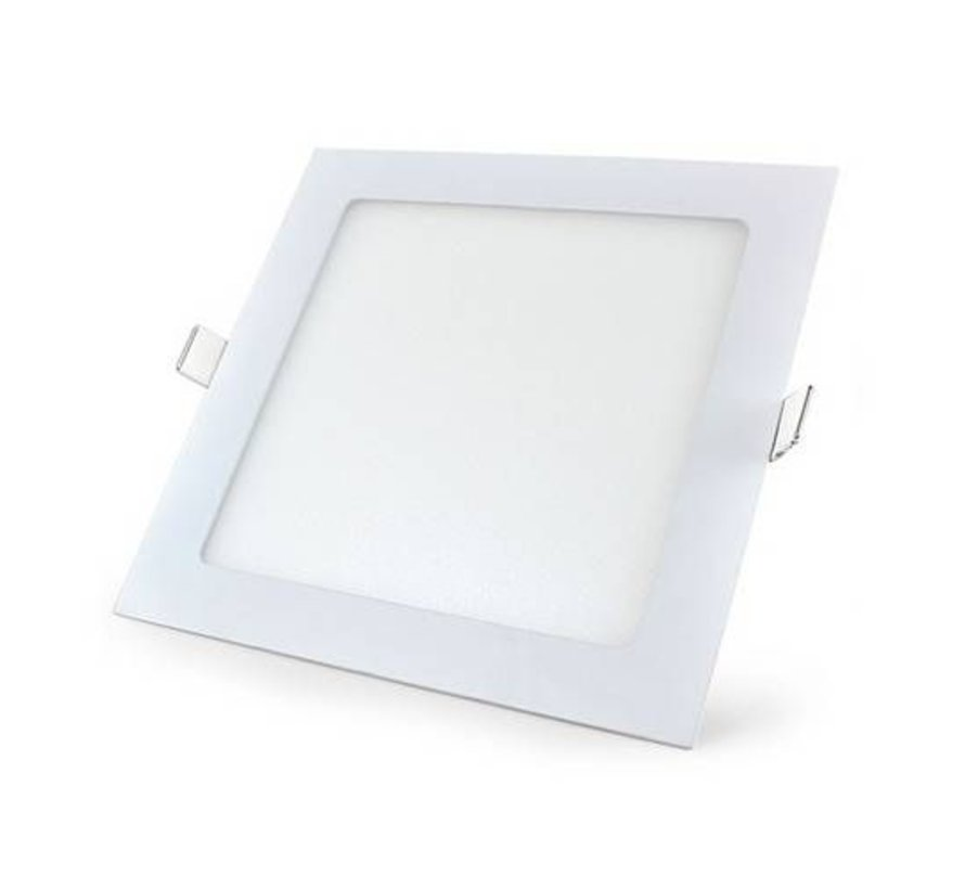 LED Inbouwspot Vierkant - 3000K warm wit licht - 18W vervangt 150W - Inbouwmaat 200x200mm