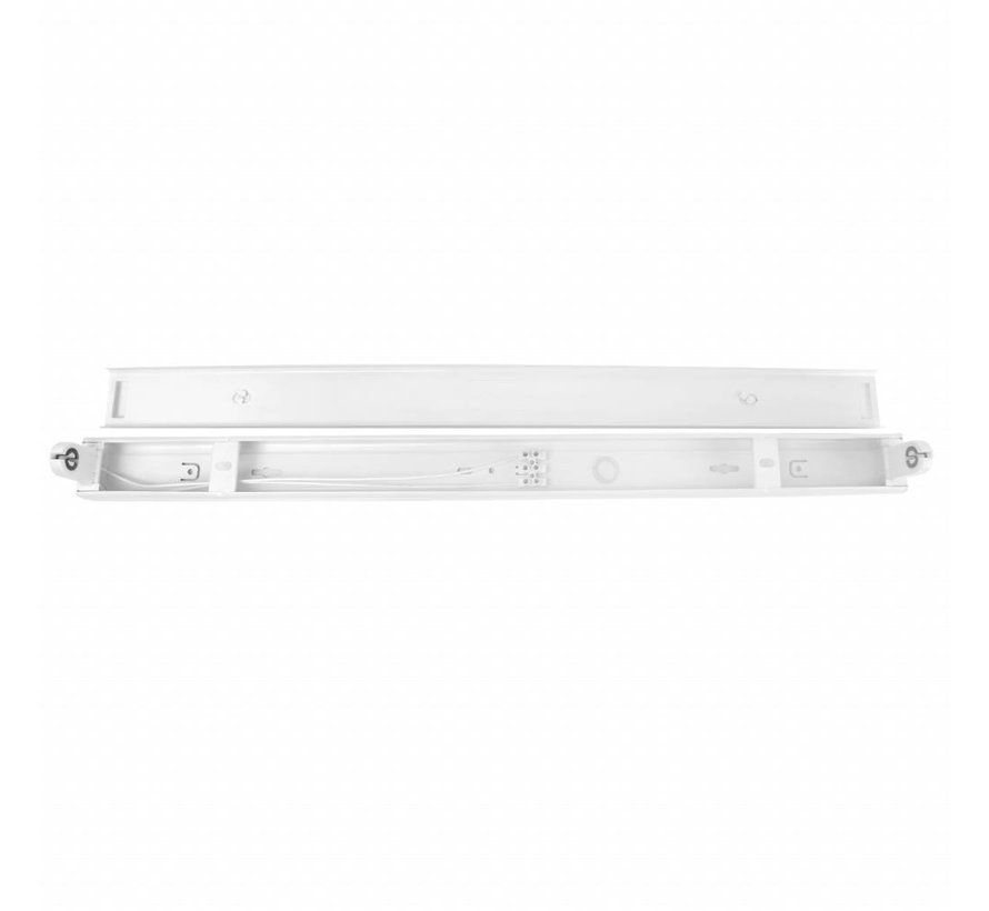 LED TL armatuur - 60cm wit aluminium - voor een enkel LED TL buis