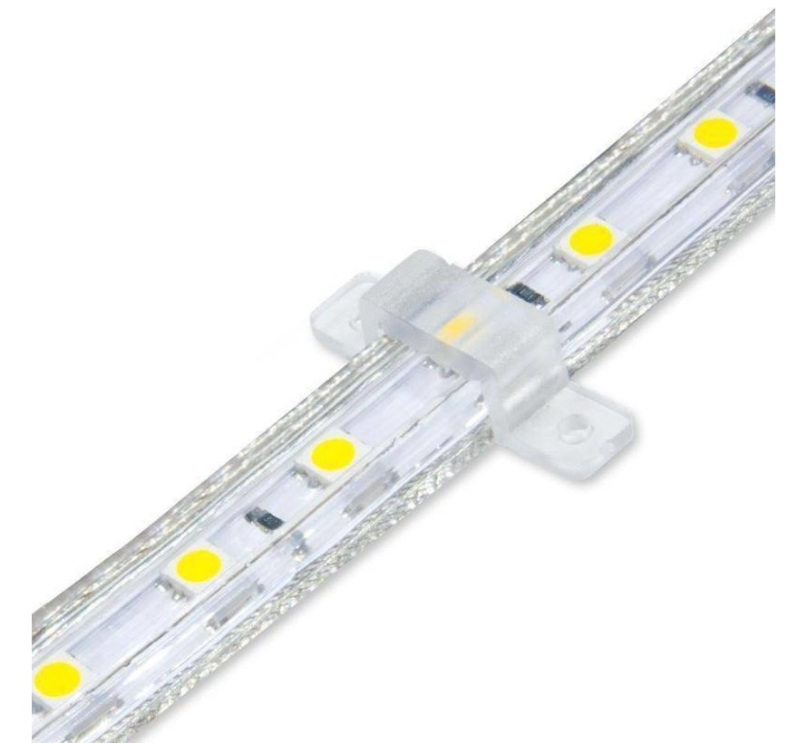 LED lichtslang plat - Rood licht - 50 meter - Incl. aansluitsnoer